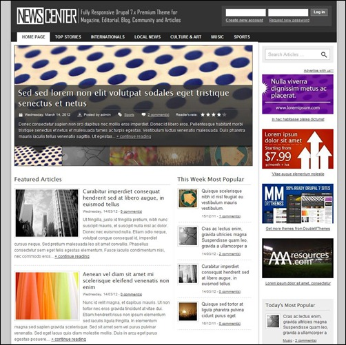 NewsCenter-drupal-7-theme