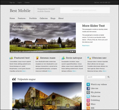 Best Mobile-drupal-7-theme