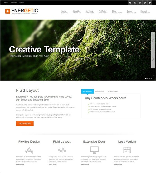 energetic-hml5-template