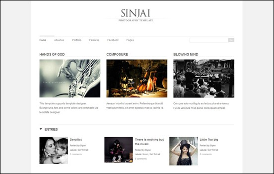 sinja blogger templates