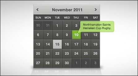 clean-dark-calendar-widget
