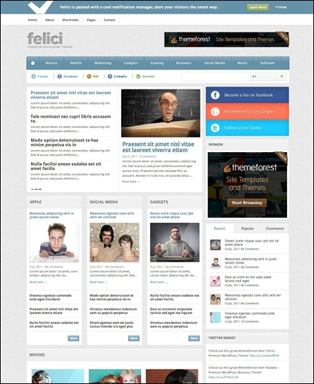 felici-wordpress-magazine-theme