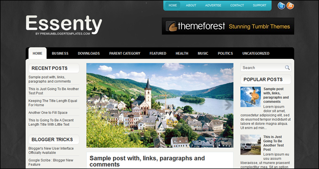 Essenty Blogger Template
