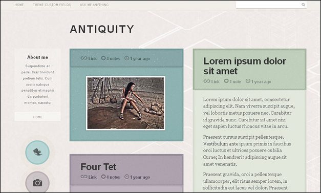 Antiquity - one of the amazing cute tumblr themes