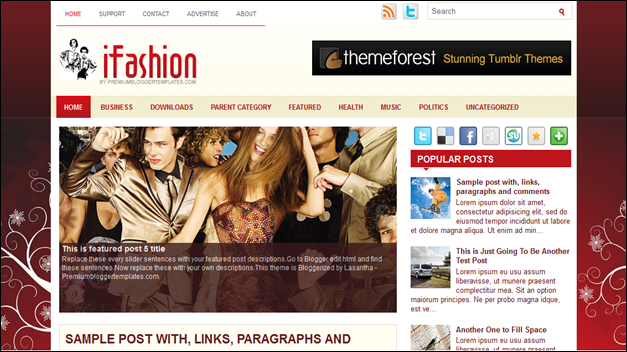 iFashion, best blogger templates