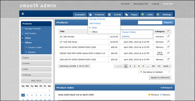Smooth Admin template