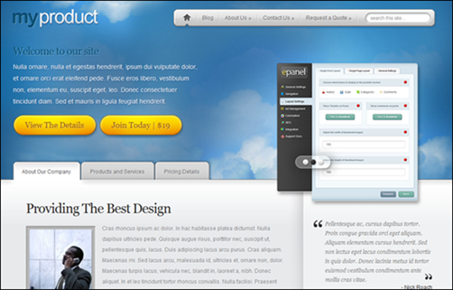 MyProduct business WordPress theme