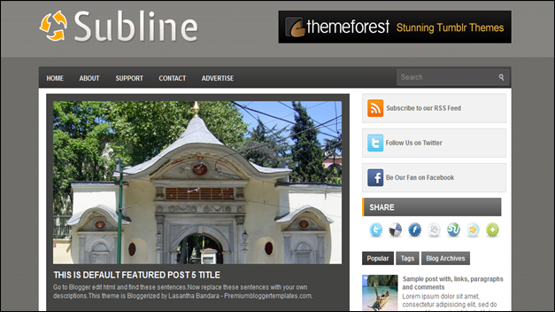 Subline, best blogger templates