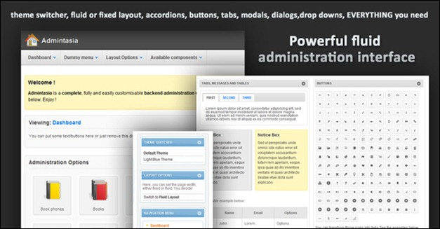 Admintasia-Powerful backend admin panel template
