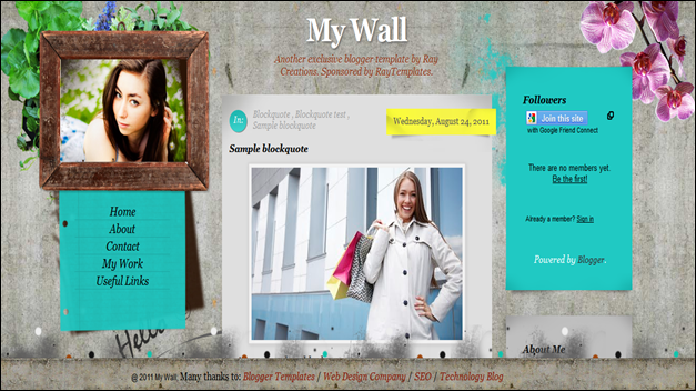 My Wall, best blogger templates