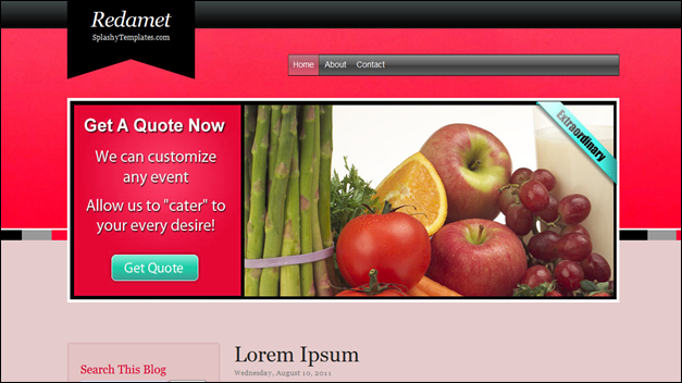 Redamet blogger templates