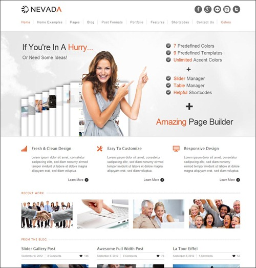 nevada top wordpress theme