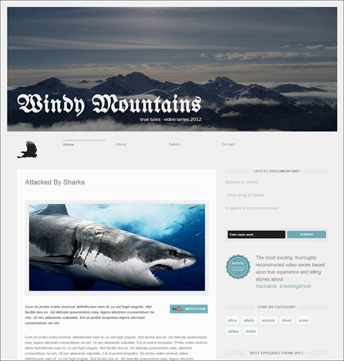 windy-blogger-template