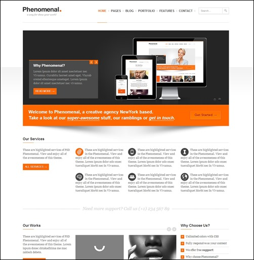 phenomenal-html5-template