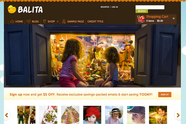 freebie download eCommerce theme Balita WordPress