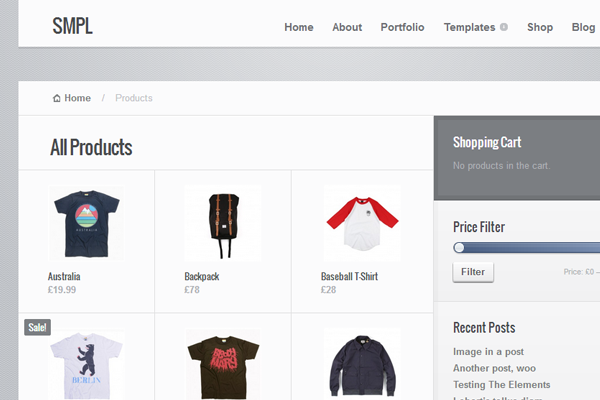 smpl simple WordPress eCommerce theme