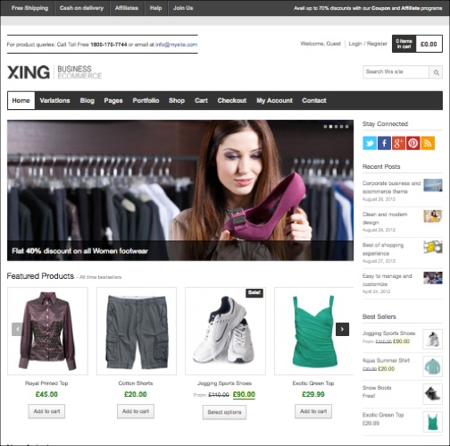 xing business ecommerce wordpress theme