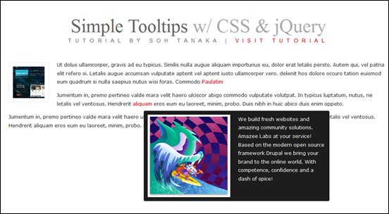 jQuery and CSS3 Simple Tooltip