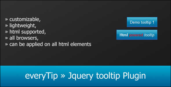 everyTip Jquery tooltip Plugin