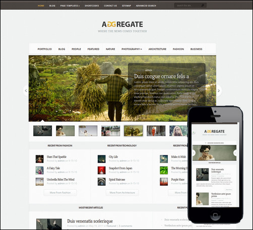 aggregate-responsive-wordpress-theme