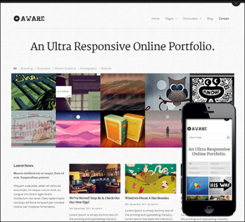 aware-responsive-grid-theme