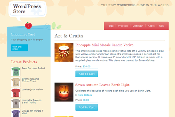 Hongkiat WordPress freebie theme Crafty Cart