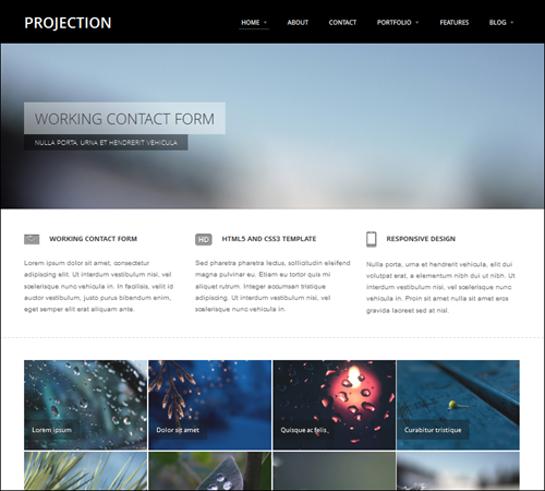 projection-hml5-template