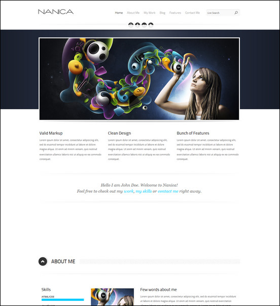 nanica-one-page-wordpress-theme