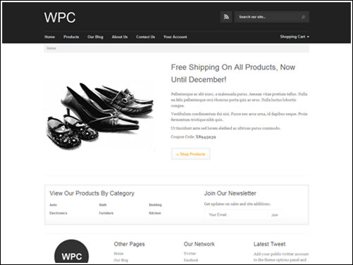WPC simple Wp ecommerce theme