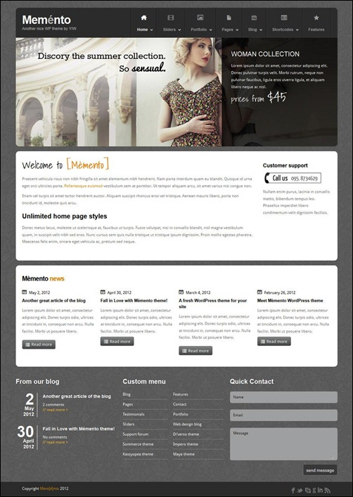 memnto-wordpress-business-theme