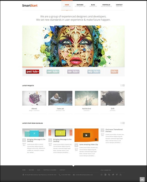 smartstart responsive wordpress theme