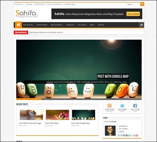 sahifa best wordpress themes