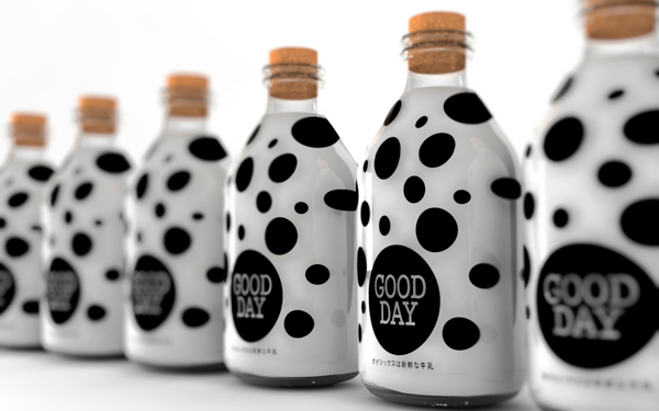 good day milk bottle design packaging