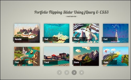 Portfolio-Flipping-Slider-flipbook-plugin