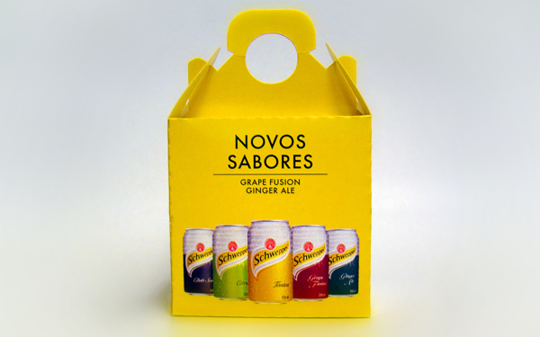 Schweppes new colorful flavors box package