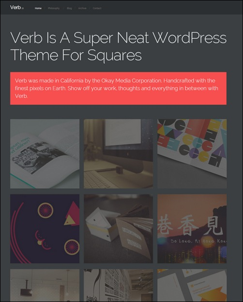 verb-dark-wordpress-theme