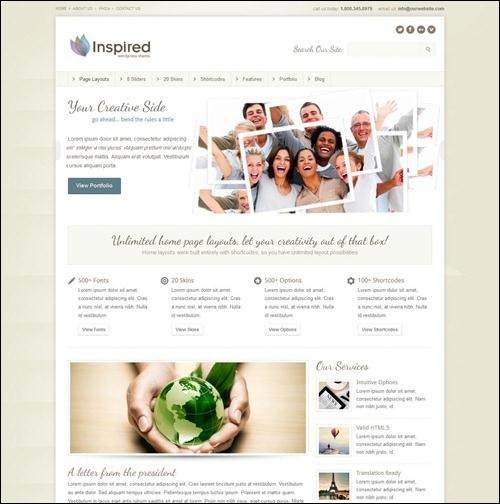 inspired best wordpress theme