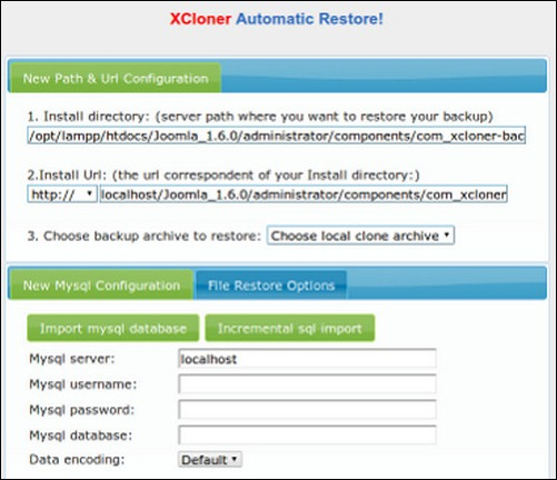 XCloner –Backup and Restore wordpress backup plugin