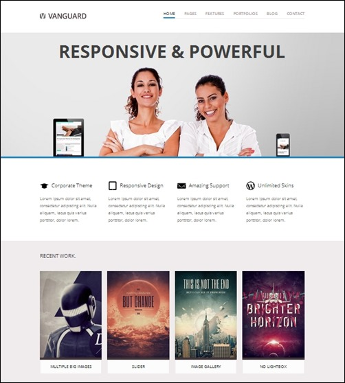 vanguard business wordpress themes
