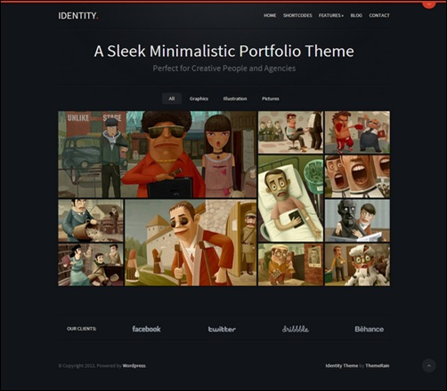 identity-responsive-dark-wordpress-theme