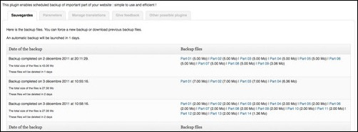 Backup Scheduler wordpress plugin