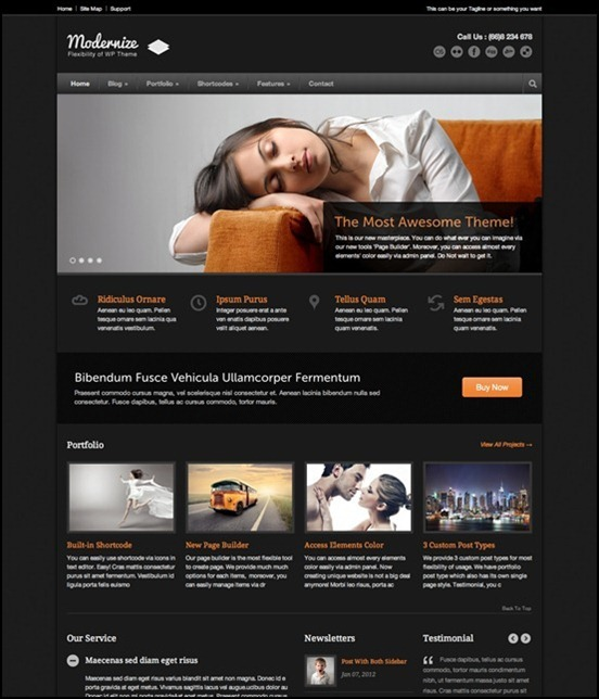modernize best wordpress themes