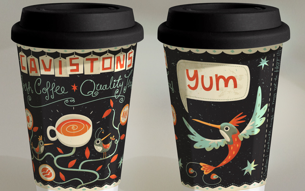 coffee cup designs graphics product package
