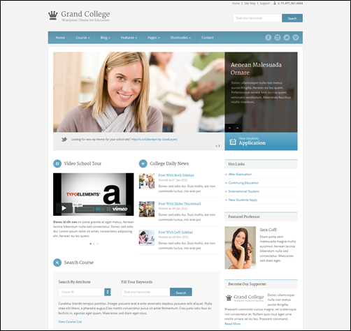 grand college wordpress theme