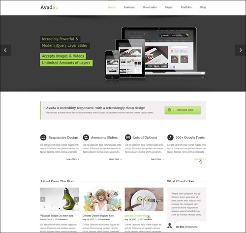 avada best wordpress theme
