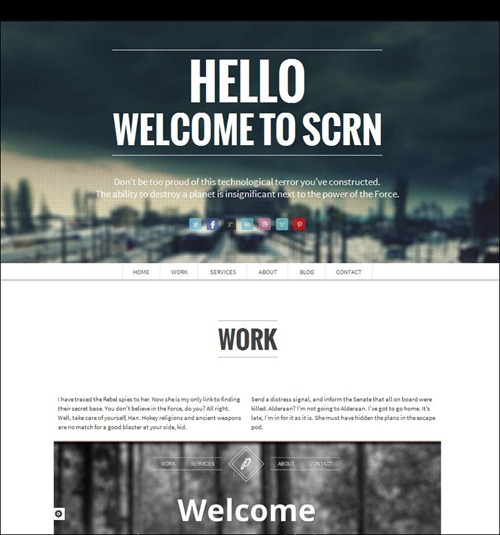 scrn wordpress photography theme