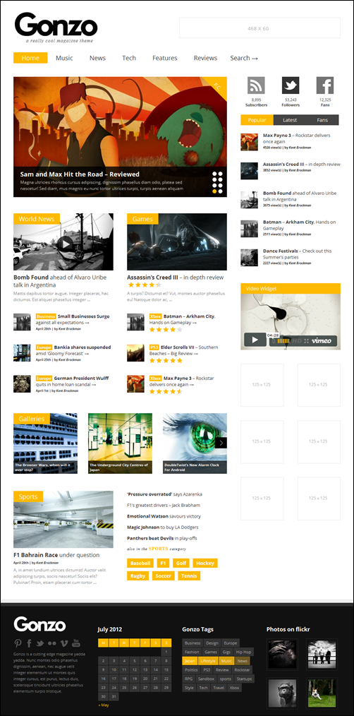 gonzo best wordpress themes