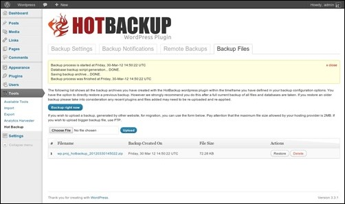 hot-backup-manager