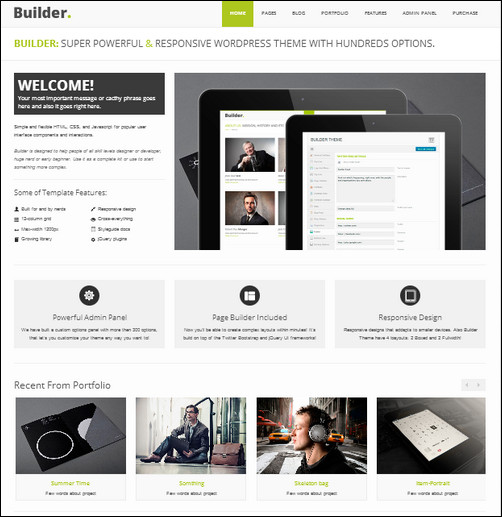 builder business wordpress themes