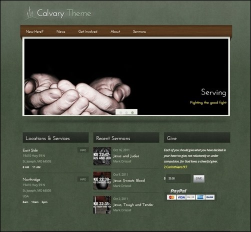 calvary church websites templates